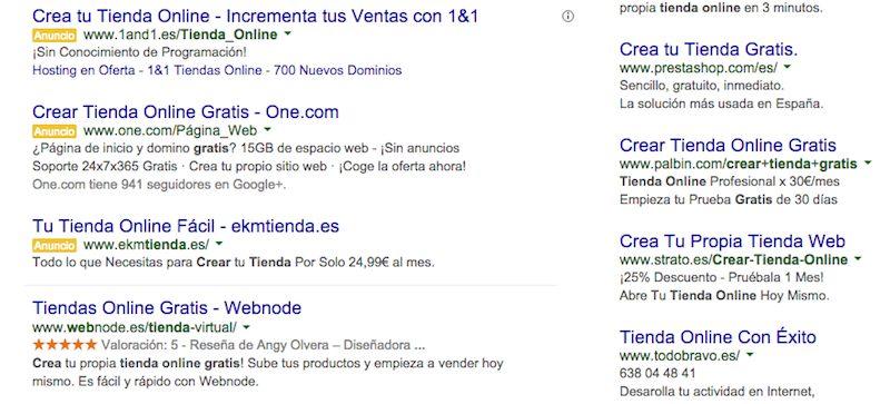 Crear tienda online gratis en Google