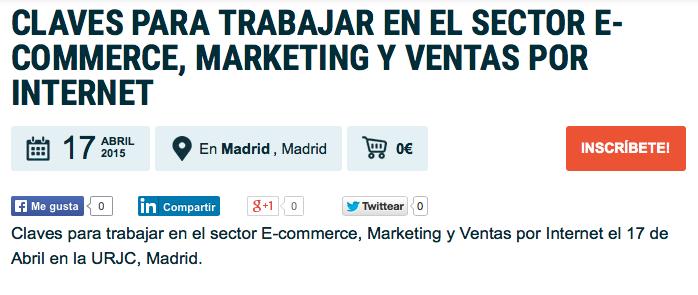 Trabajar en el sector E-commerce, Marketing y Ventas por Internet